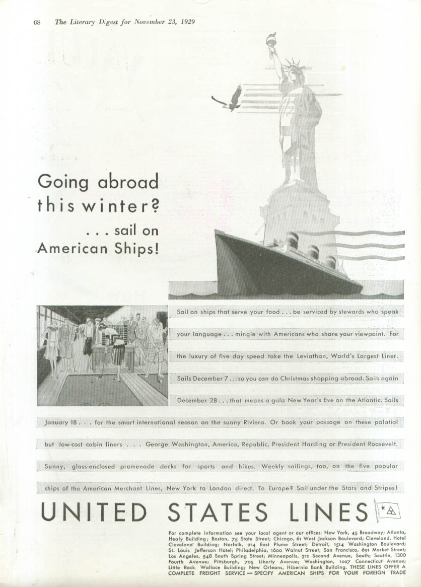 Going abroad this winter? S S Leviathan ad 1929