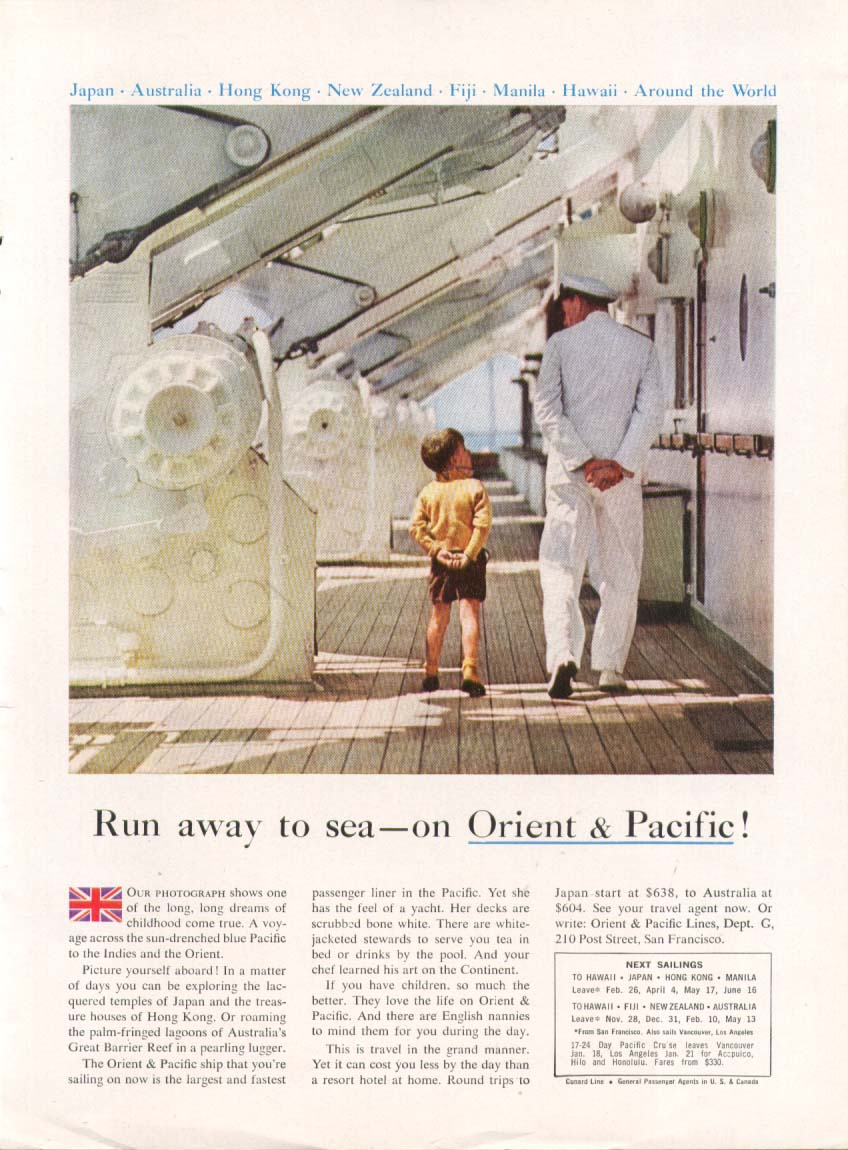 Image for Run away to sea - on Orient & Pacific Lines ad 1959
