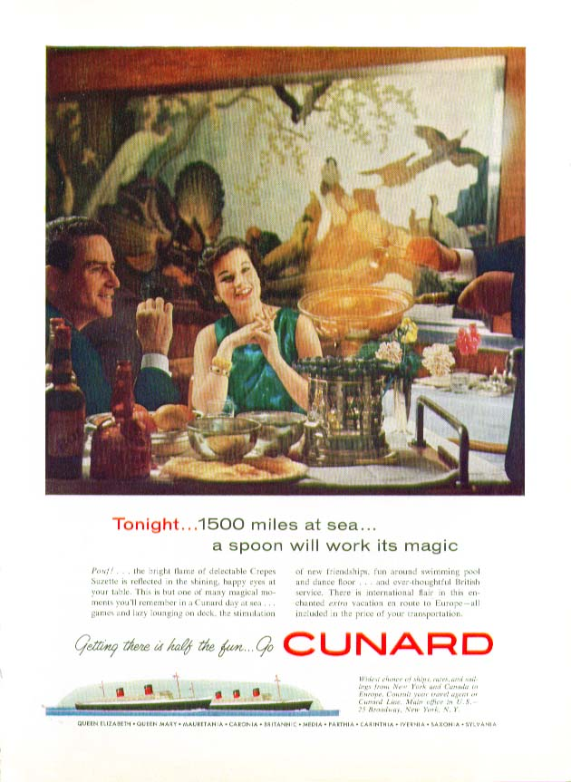 Image for Today 1500 miles at sea a spoon will work its magic Cunard ad 1959