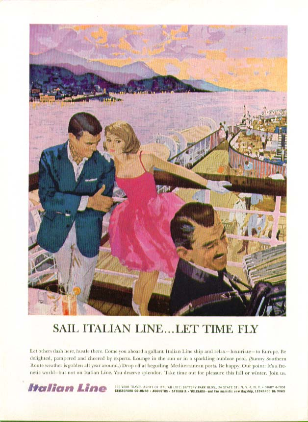 Image for Sail Italian Line - Let Time Fly ad 1960