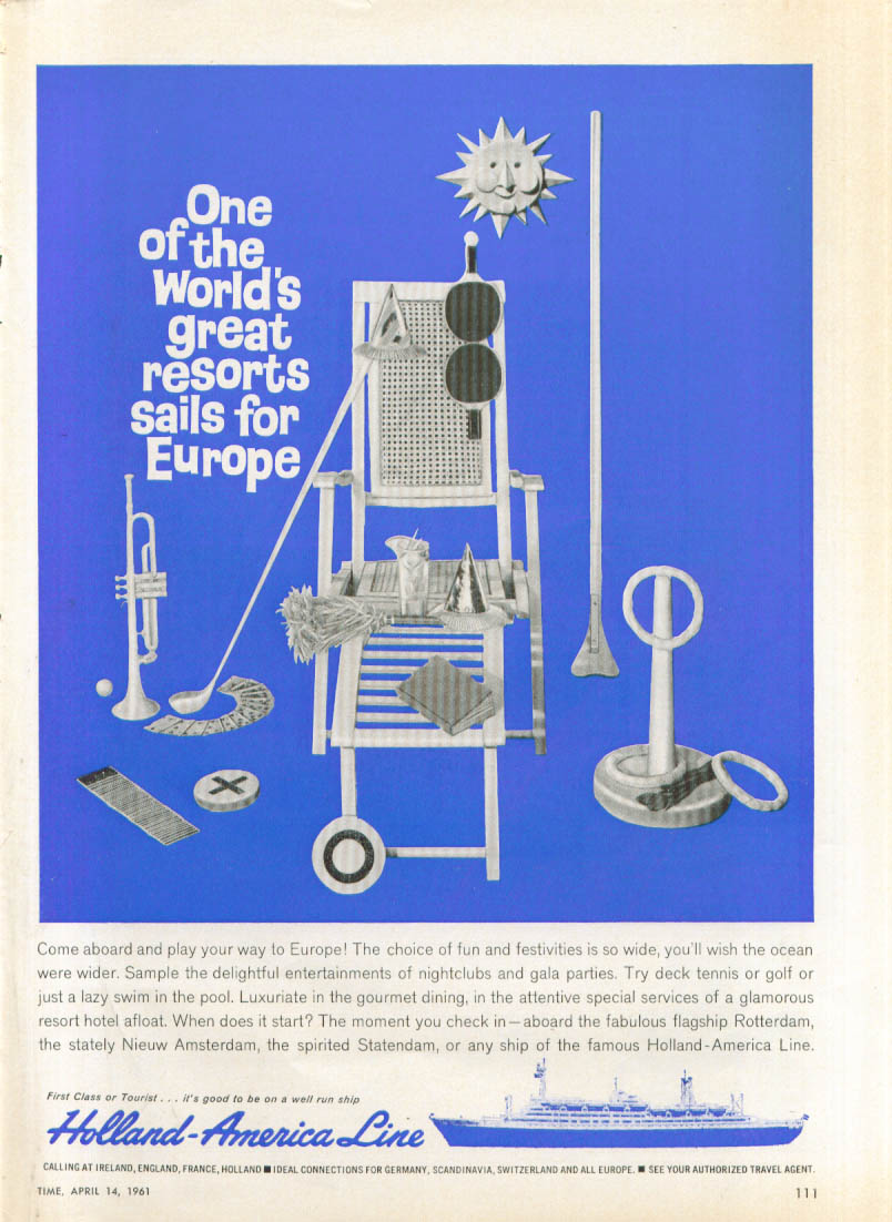 Image for One of the world's great S S Nieuw Amsterdam ad 1961