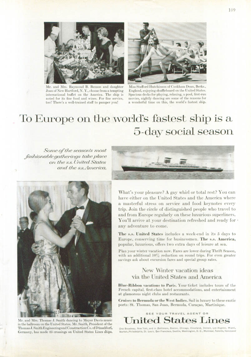 A 5-day social season S S United States ad 1963