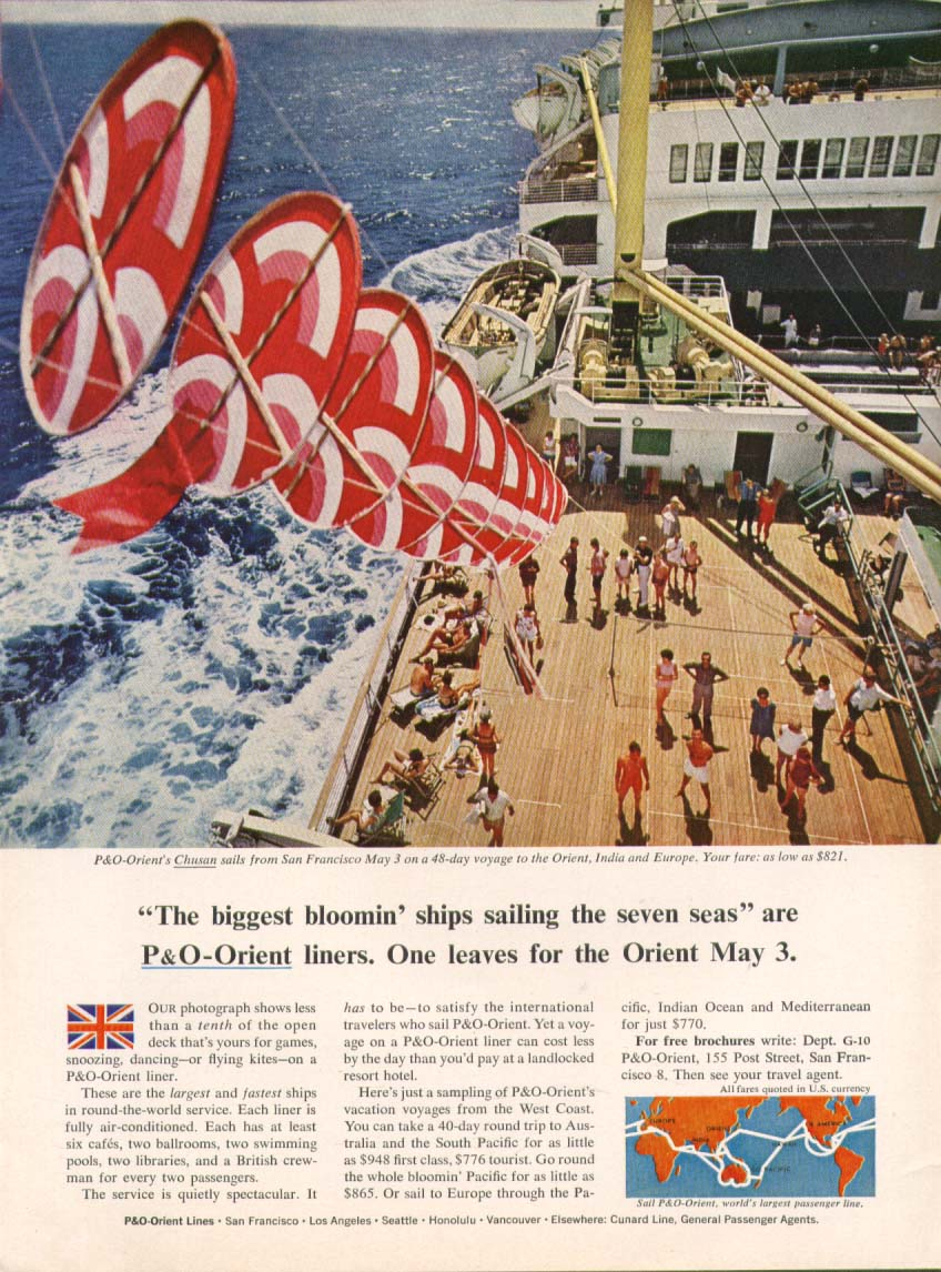Image for Biggest bloomin' ship P&O-Orient S S Chusan ad 1964