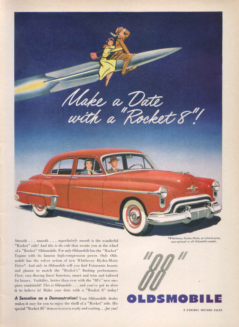 Image for Make a Date with a Rocket 8 Oldsmobile 88 ad 1950 #1
