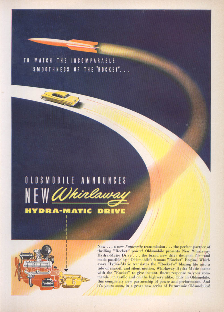 Image for Whirlaway Hydra-matic Drive Oldsmobile ad 1950