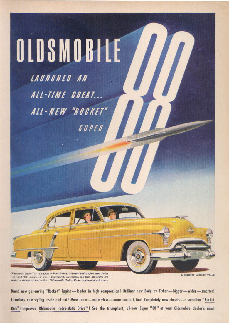 All-time Great Oldsmobile Super 88 ad 1951