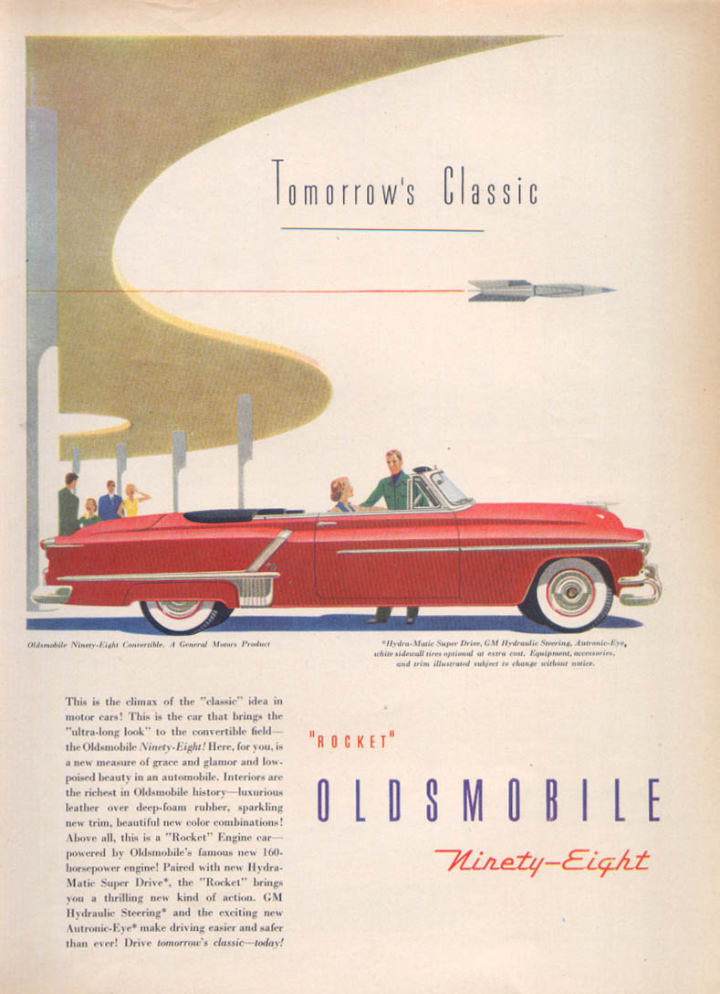 Image for Tomorrow's Classic Rocket Oldsmobile 98 ad 1952