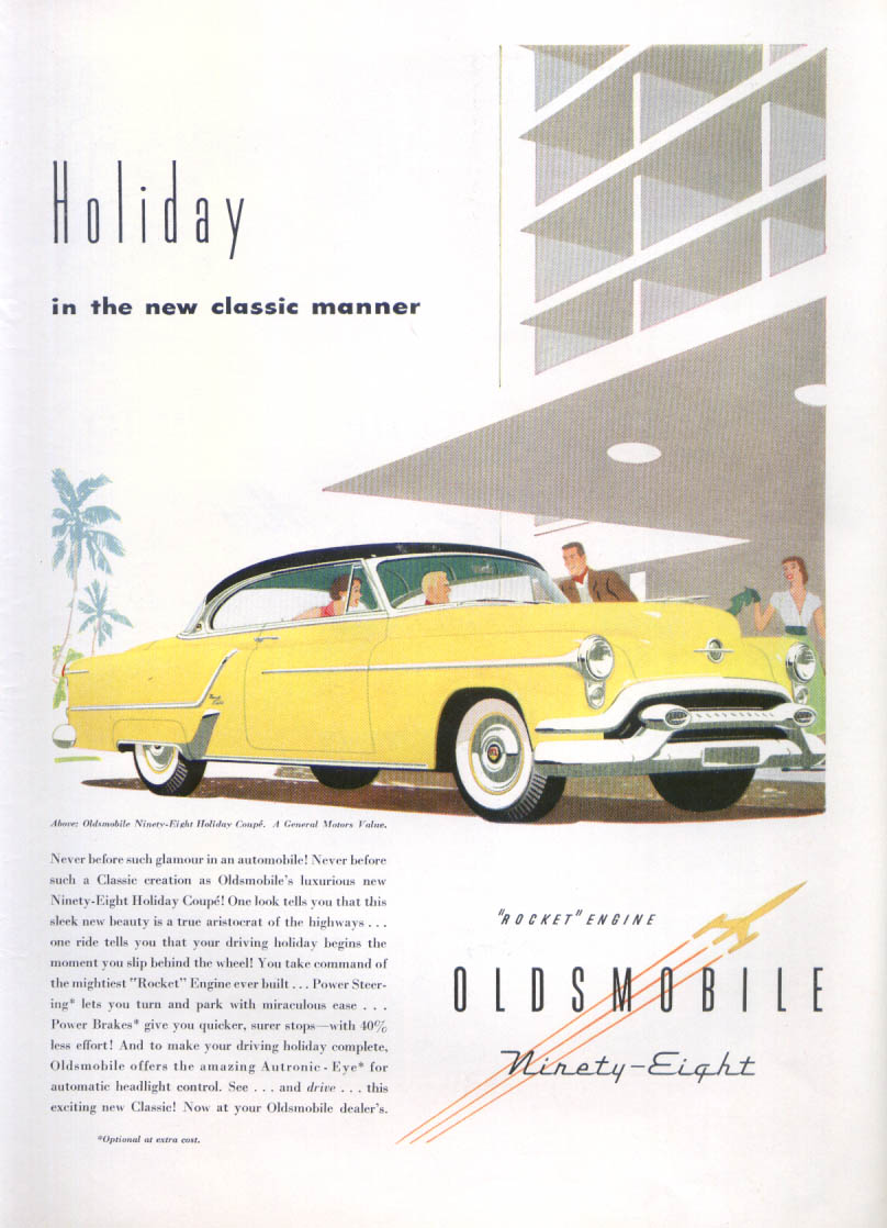 Image for Holiday in the new classic Oldsmobile 98 ad 1953