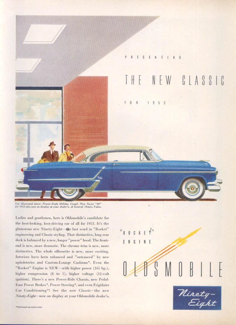Image for The New Classic Oldsmobile 98 ad 1953