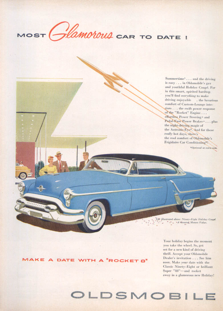 Image for Most Glamorous Car to Date Rocket Oldsmobile 98 ad 1953
