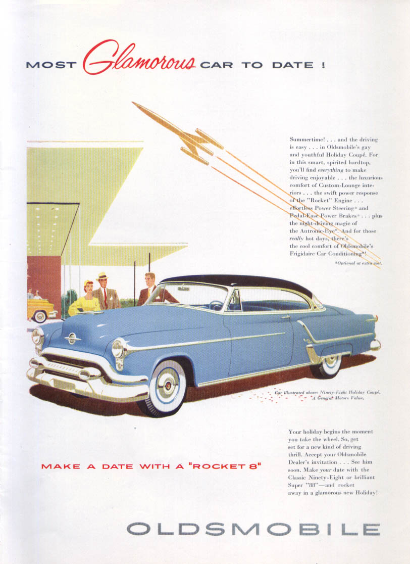 Image for Make a Date with a Rocket 8 Oldsmobile 98 ad 1953