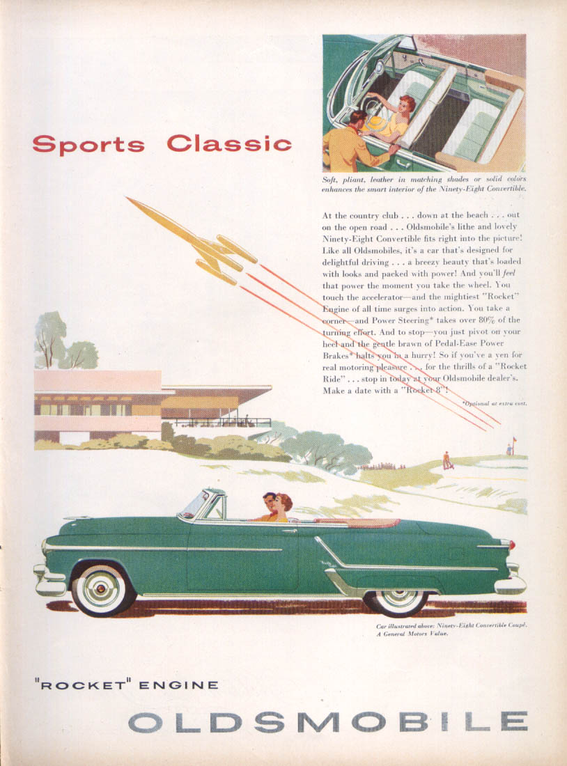 Image for Sports Classic Rocket Engine Oldsmobile 98 ad 1953 Newsweek