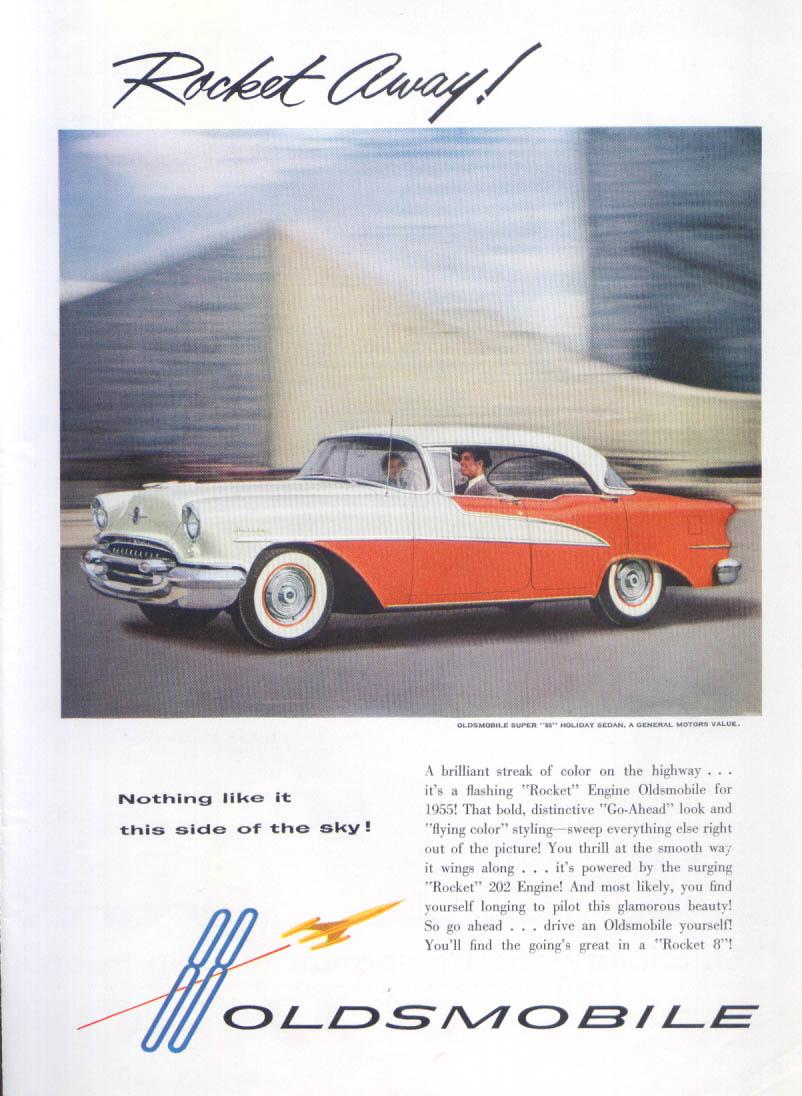 Oldsmobile Super 88 ad 1955