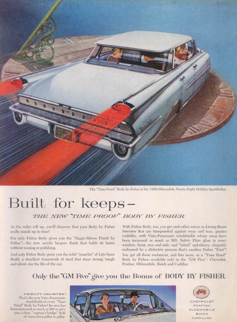 Built for keeps Oldsmobile 98 SportSedan ad 1959