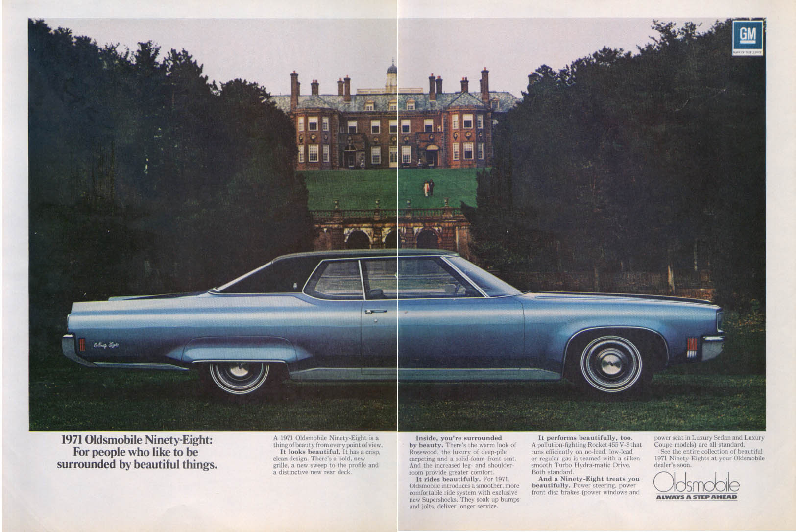 Always a Step Ahead Oldsmobile 98 ad 1971