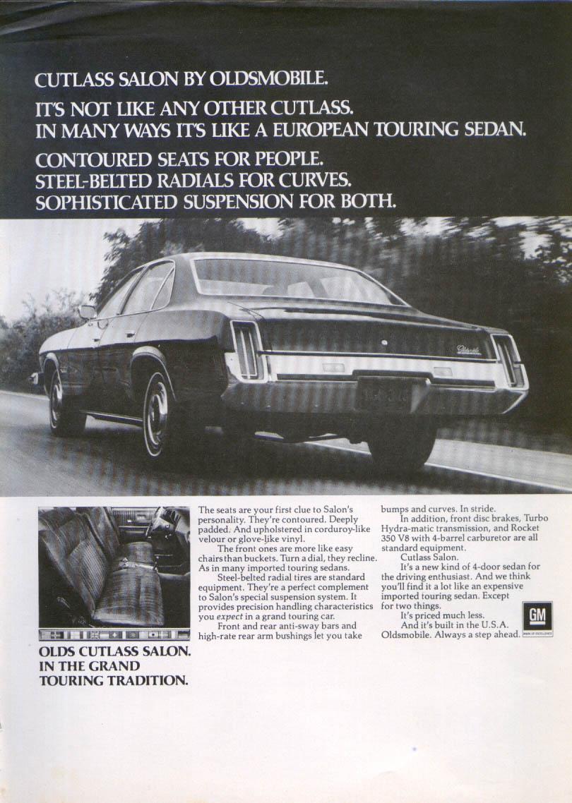 Oldsmobile cutlass salon ad 1973 new yorker ebay for 1973 cutlass salon