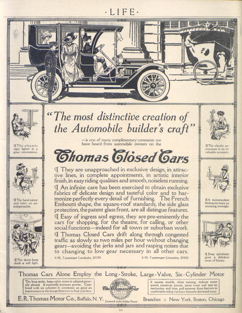 Image for Most distinctive creation Thomas Closed Cars ad 1910