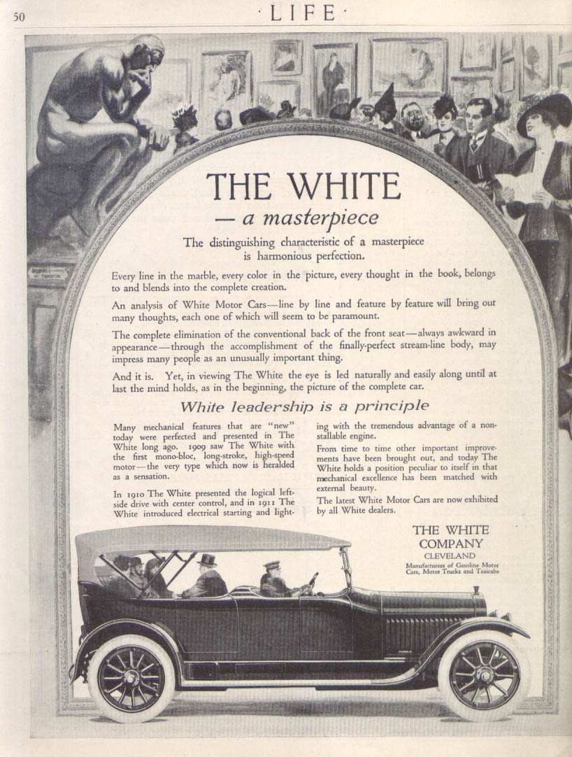 Image for A Masterpiece - harmonious perfection The White ad 1912