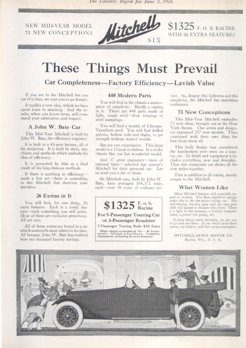 Image for These Things Must Prevail Mitchell auto ad 1916