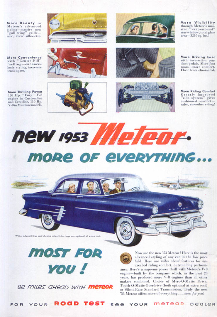 Image for New 1953 Meteor More of Everything ad Canada