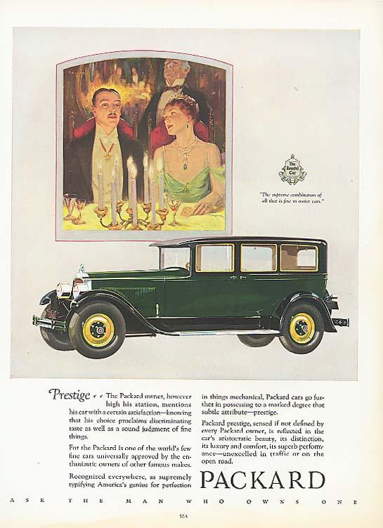 Prestige - Packard 4-door Sedan ad 1927