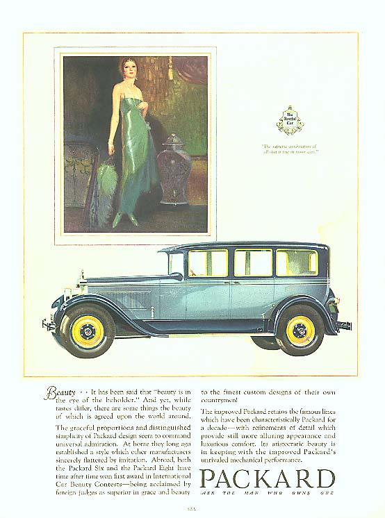 Image for Beauty - Packard 4-door Sedan ad 1927