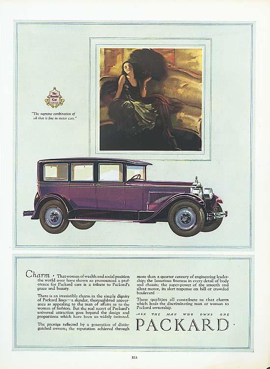 Charm - Packard 4-dr Sedan ad 1927