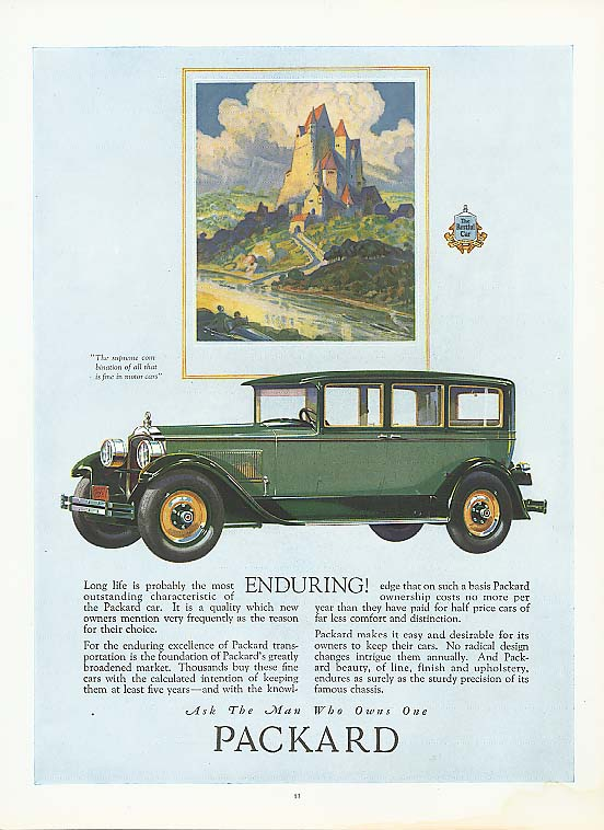 Enduring! - Packard 4-dr Sedan ad 1927