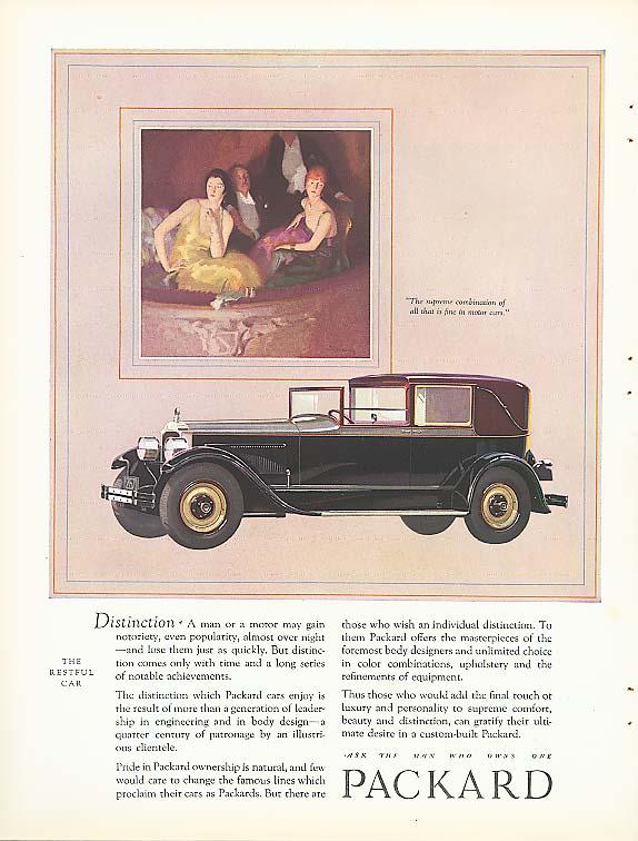 Distinction - Packard Town Car ad 1927