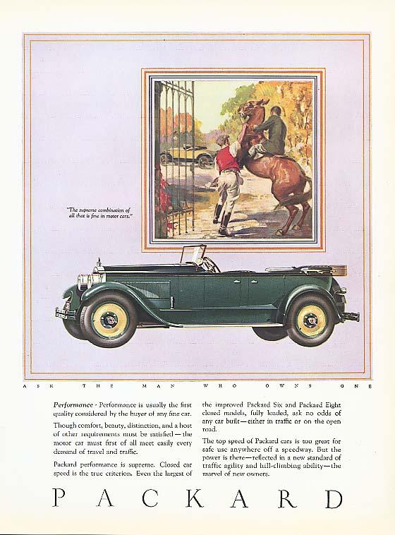 Performance - Packard Phaeton ad 1927