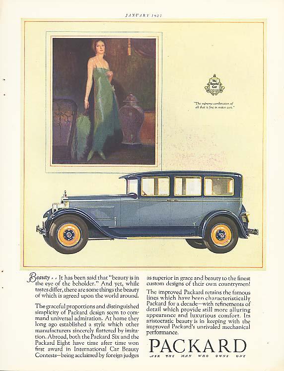 Beauty - Packard 4-dr Sedan ad 1927