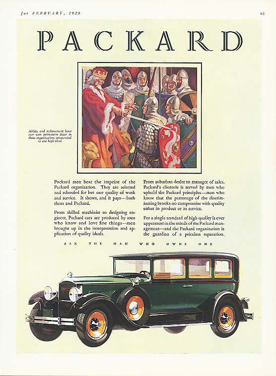 Beat the imprint of Packard 4-dr Sedan ad 1929