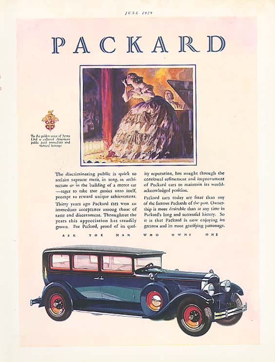 The discriminating public - Packard 4-dr Sedan ad 1929