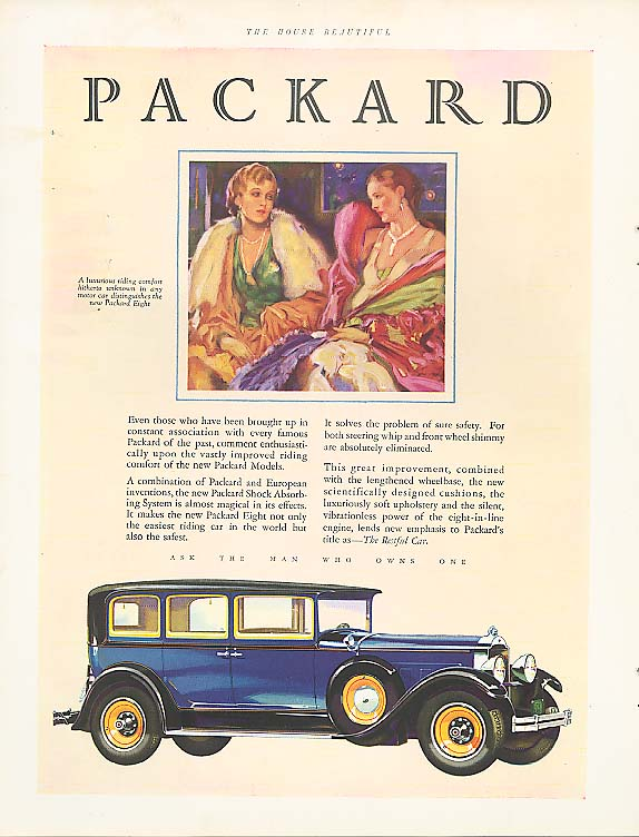 Image for Luxury never more apparent Packard Coupe ad 1930
