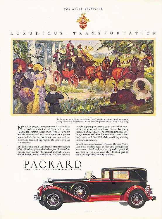 No finer personal transportation Packard Town Car 1930
