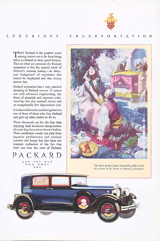 Greatest name among motor cars Packard  ad 1930