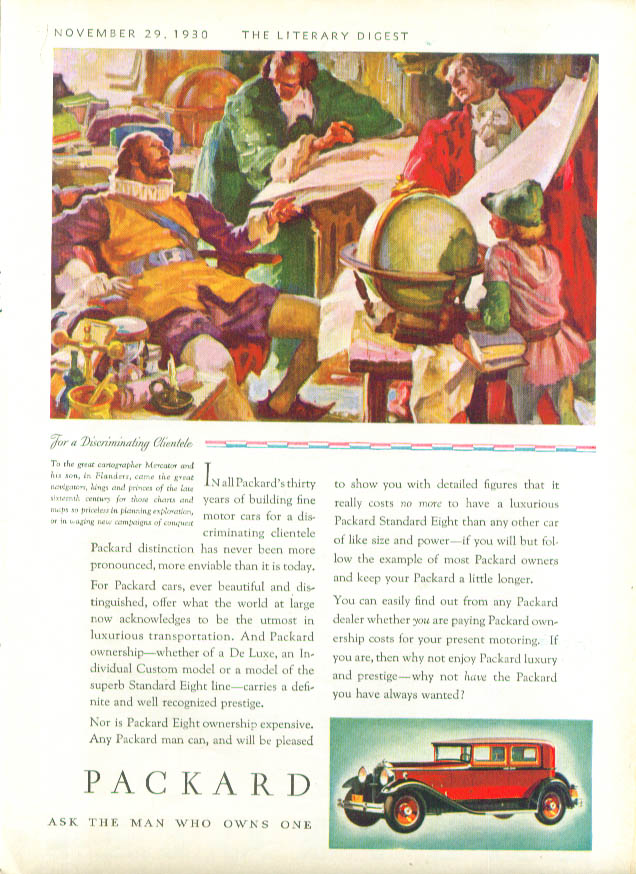 Image for Discriminating Clientele Mercator Packard ad 1931