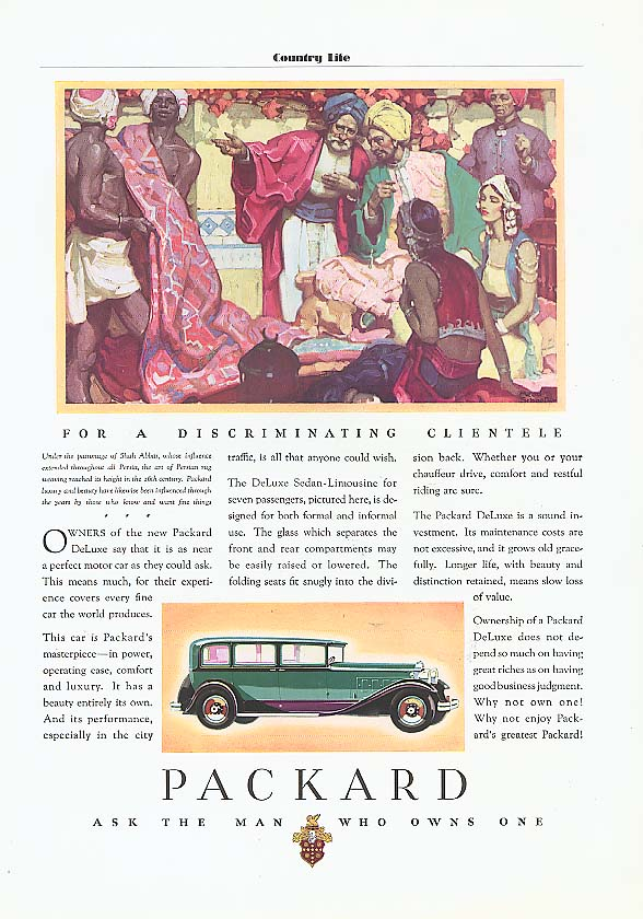Owners of the New Packard 4-dr Sedan ad 1931
