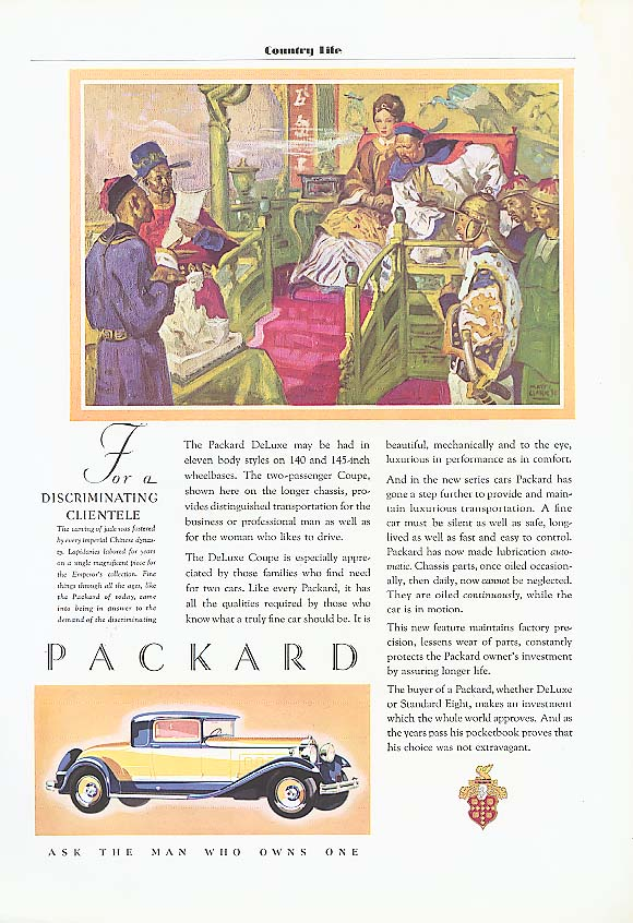 Eleven body styles - Packard Coupe ad 1931