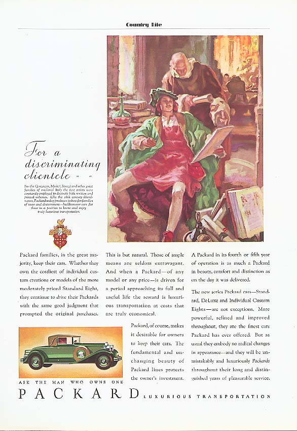Image for Packard Families keep theirs Convertible Cpe ad 1931