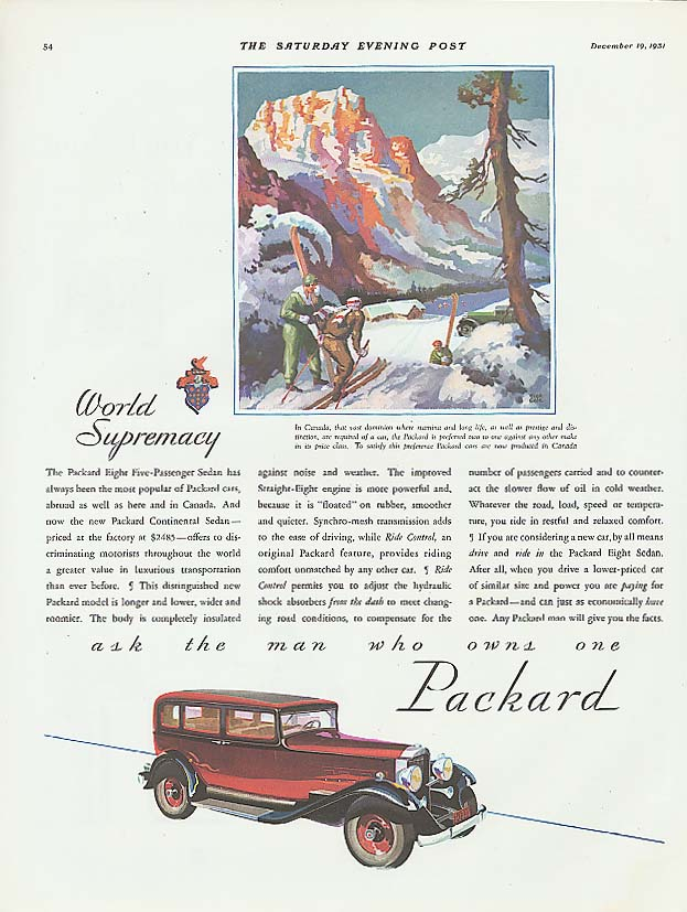 Image for Popular - Packard Eight 5-passenger Sedan ad 1932
