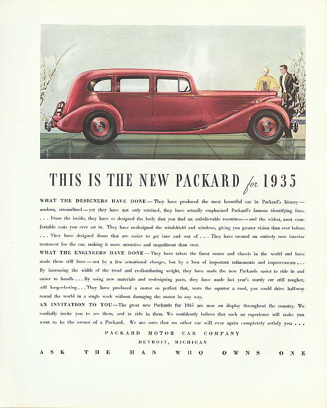 Image for This is the New Packard for 1935 ad 4-dr Sedan