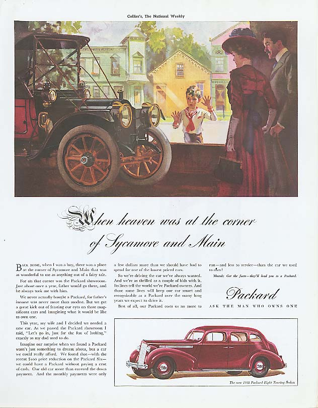 Image for Sycamore & Main - Packard 8 Touring Sedan ad 1938