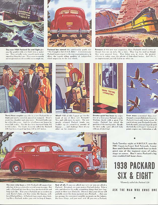 The new Packard Six & Eight ad 1938