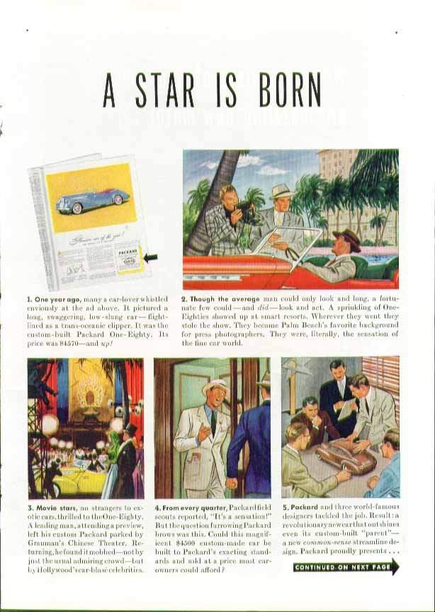 A Star is Born. . . Packard Clipper 3-page ad 1941