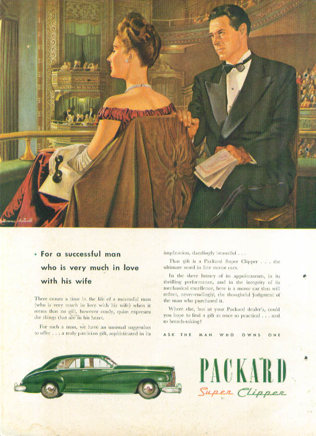For a successful man Packard Super Clipper ad 1946