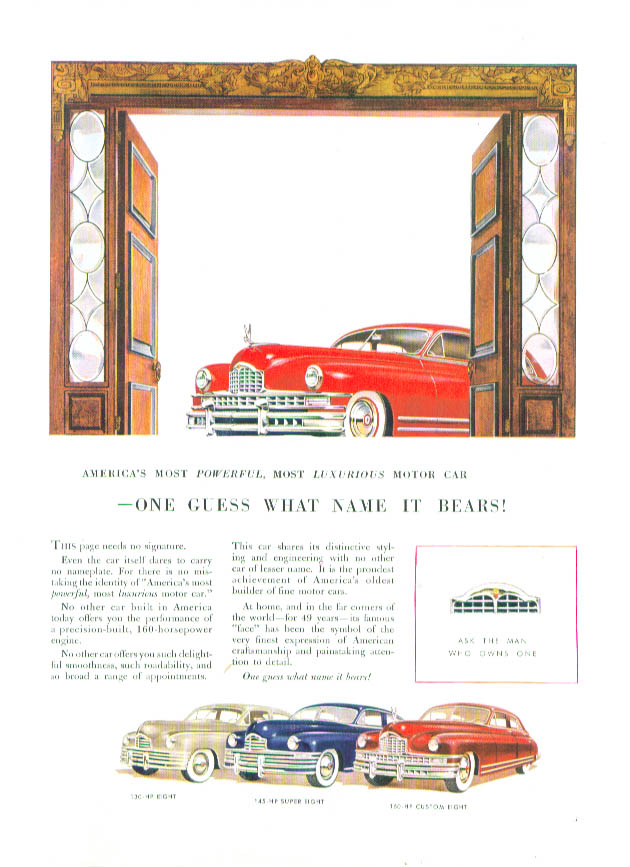 Image for One guess what name it bears - Packard ad 1948
