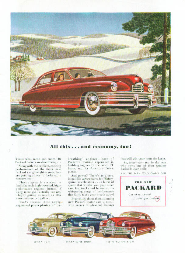 Image for All this . . . and economy, too! Packard ad 1948