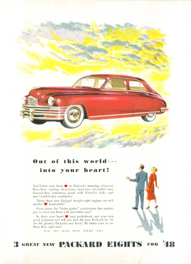 Image for Out of this world . . . into your heart! Packard ad 194