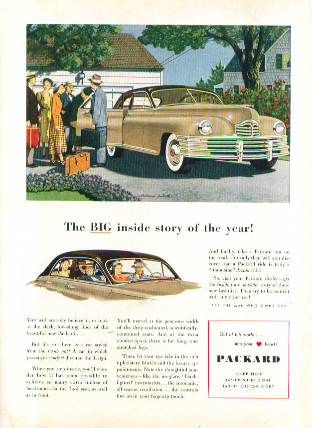 Image for The BIG inside story of the year! Packard ad 1948